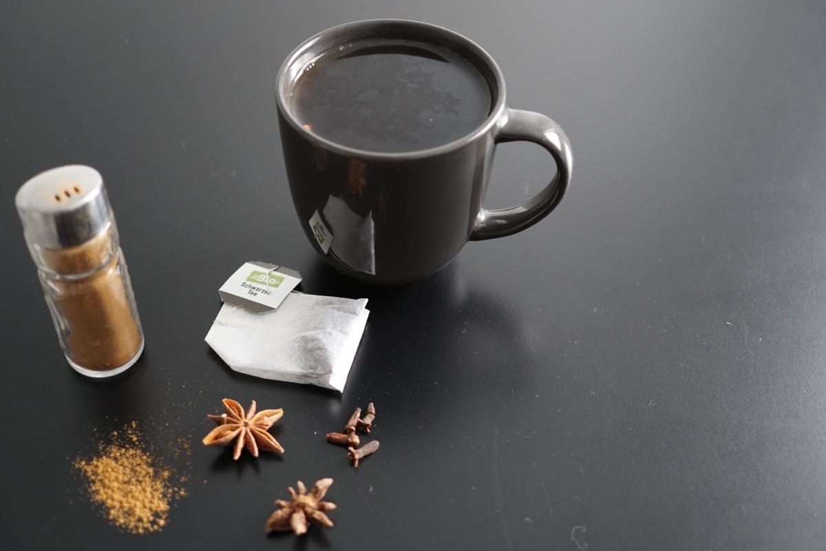 Spiced Black Tea and Spices