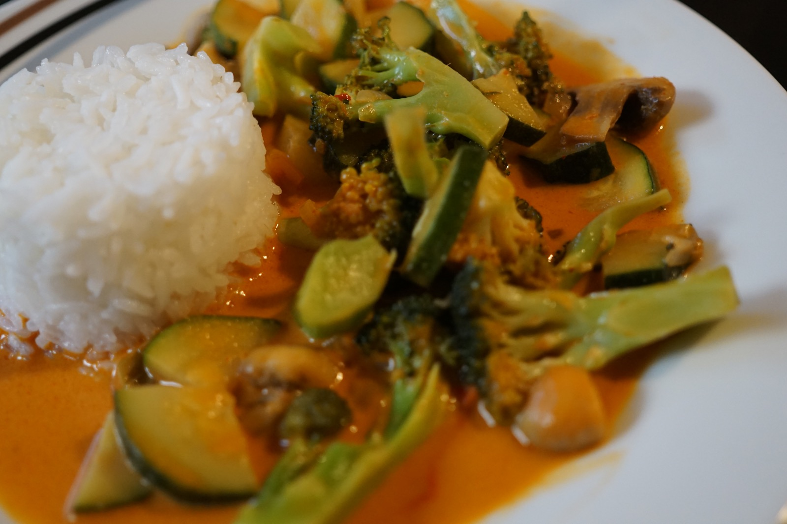 Thai Red Curry with Rice and Vegetables