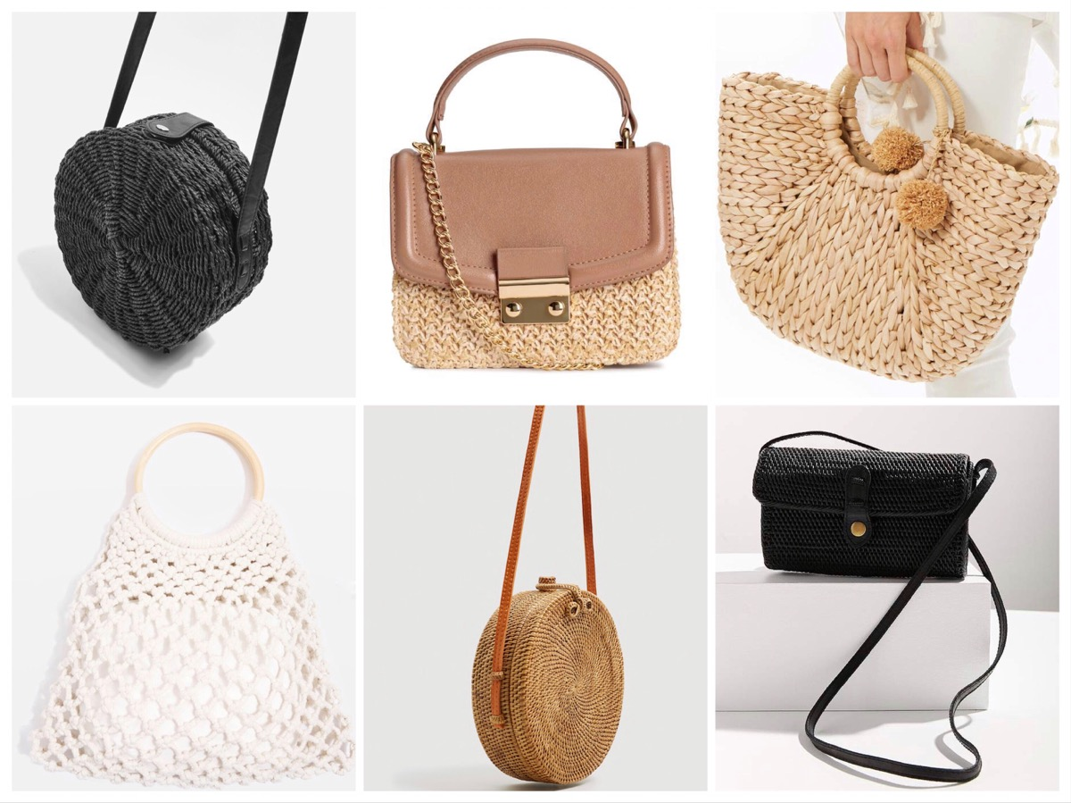 Shop Straw Basket bag