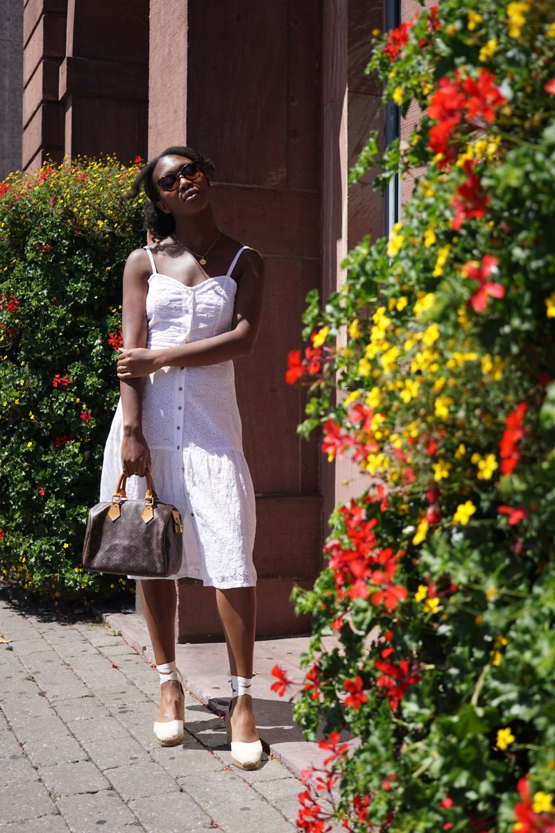 Mango White Midi Dress
