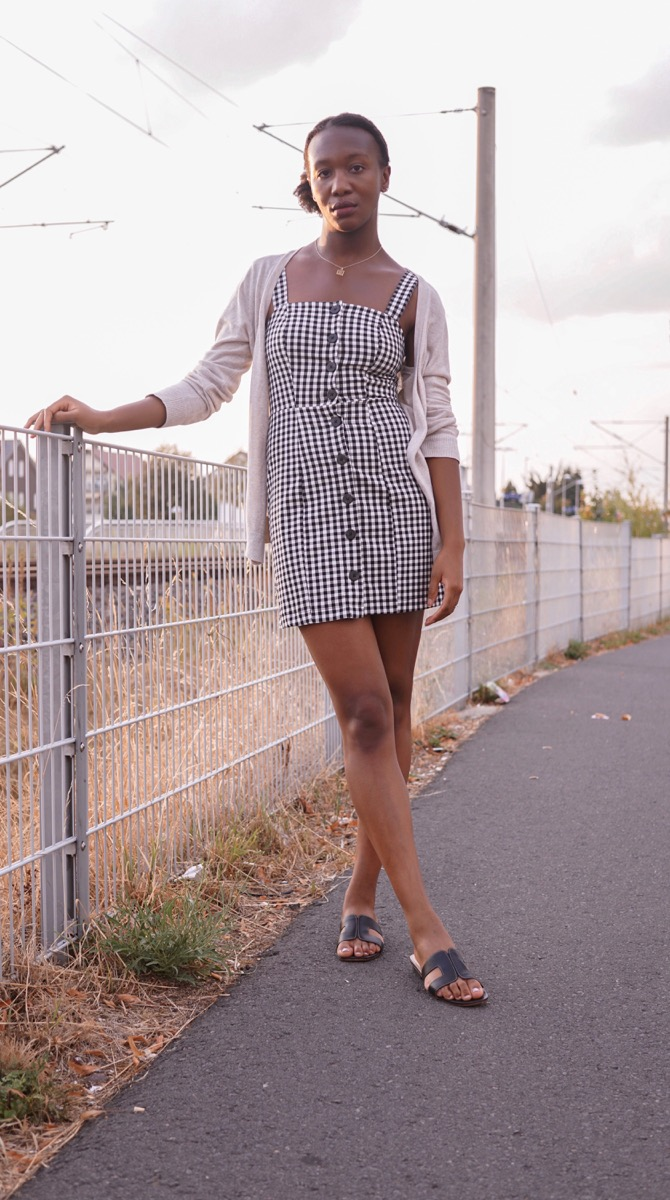 Mini checked dress by Bershka