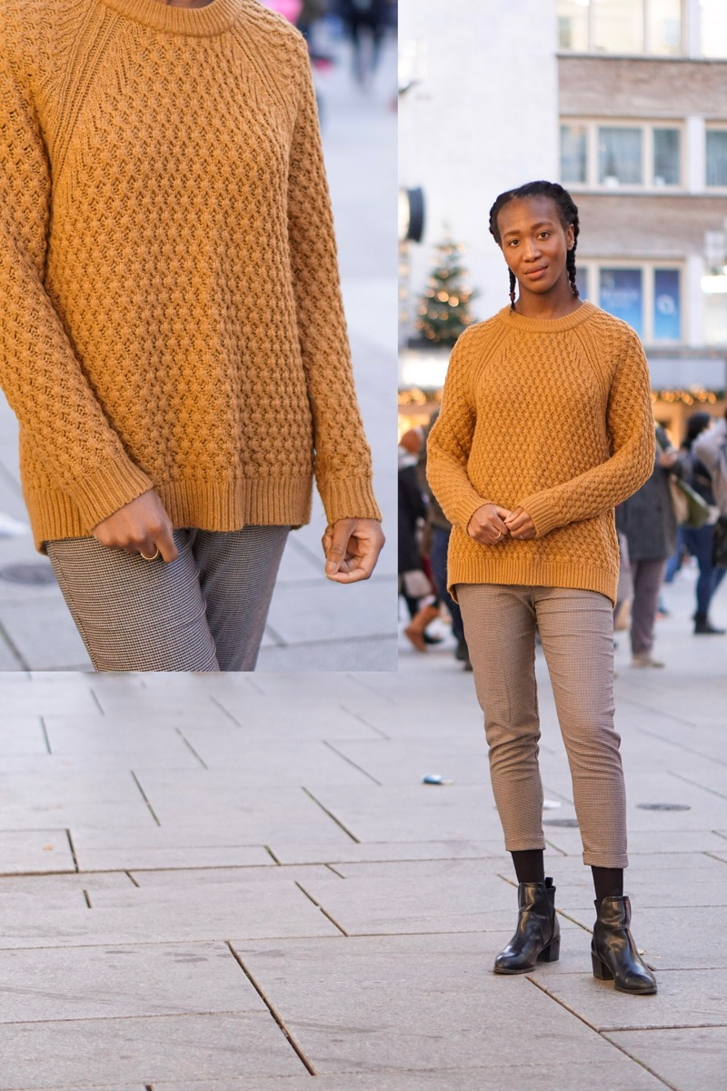 Jey in mustard jumper