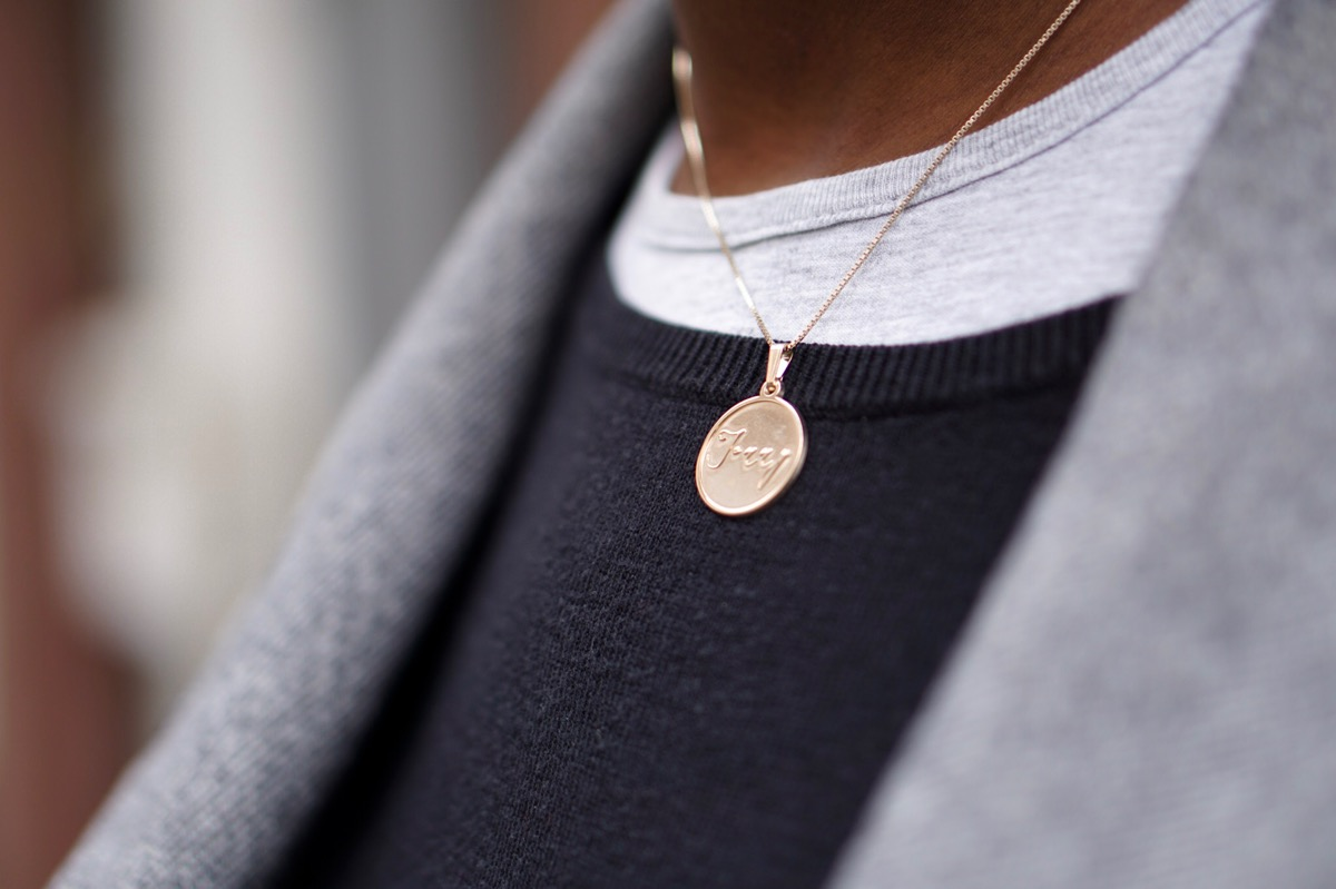 oNecklace Disc Name Necklace
