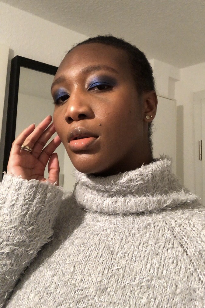 NYE makeup dark skin
